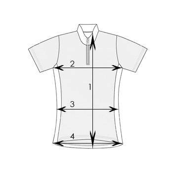 Size chart - man's cycling jersey