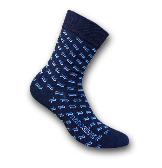 společenské ponožky nanosilver se vzorem