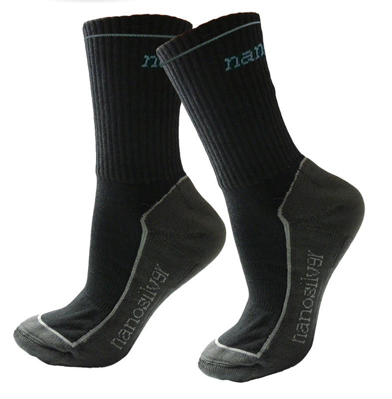 b3dc0d0d62d Sportovní termo ponožky se stříbrem nanosilver. černé. bílé