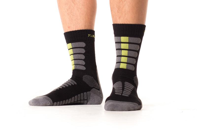 Trekingové ponožky se stříbrem. šedo červené. šedo zelené cc5e6d311f