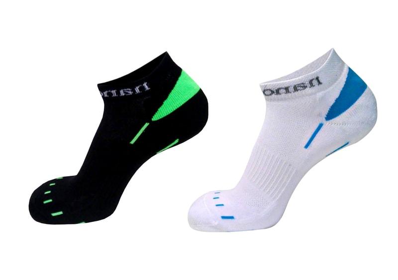 b9469c45f65 Sportovní ponožky nízké s antibakteriální složkou nanosilver. bílo modré